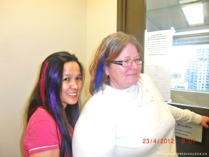 Crazy Hair Day at Reeves College Calgary City Centre Campus 004
