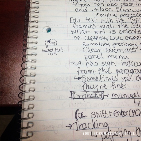 Life at Reeves College on Instagram by Meghan - So Many Notes