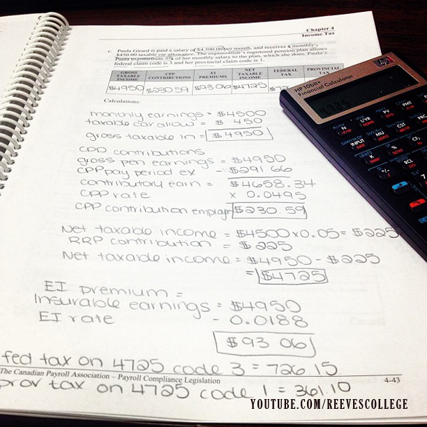 Life at Reeves College on Instagram by blondebadfish - Income Ta