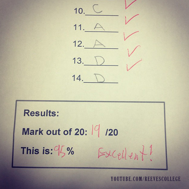 Life at Reeves College on Instagram by blondebadfish - Midterm!